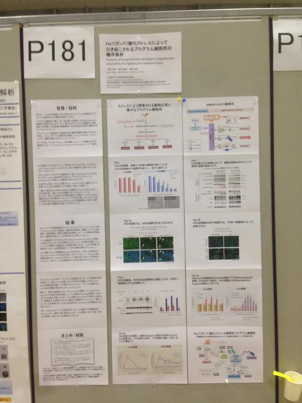 第92回日本生化学会にて、芳賀先生が発表しました(2019.9.20)。